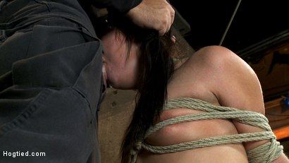 Photo number 7 from Cute girl next door with Daddy issues, get severely bound, brutally deep throated. Multiple orgasms! shot for Hogtied on Kink.com. Featuring Ashli  Orion in hardcore BDSM & Fetish porn.