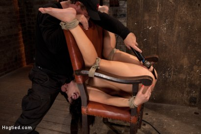Photo number 14 from Girl next door takes brutal foot caning, devastating orgasms, a horrific throat fucking & anal abuse shot for Hogtied on Kink.com. Featuring Ashli  Orion in hardcore BDSM & Fetish porn.