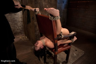 Photo number 1 from Girl next door takes brutal foot caning, devastating orgasms, a horrific throat fucking & anal abuse shot for Hogtied on Kink.com. Featuring Ashli  Orion in hardcore BDSM & Fetish porn.