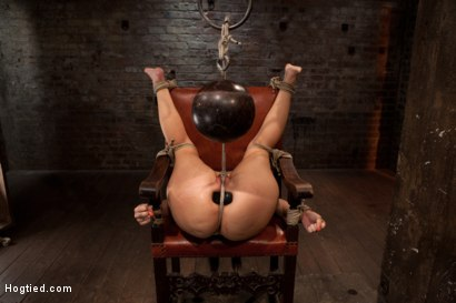 Photo number 13 from Girl next door takes brutal foot caning, devastating orgasms, a horrific throat fucking & anal abuse shot for Hogtied on Kink.com. Featuring Ashli  Orion in hardcore BDSM & Fetish porn.