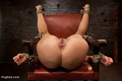 Photo number 3 from Girl next door takes brutal foot caning, devastating orgasms, a horrific throat fucking & anal abuse shot for Hogtied on Kink.com. Featuring Ashli  Orion in hardcore BDSM & Fetish porn.