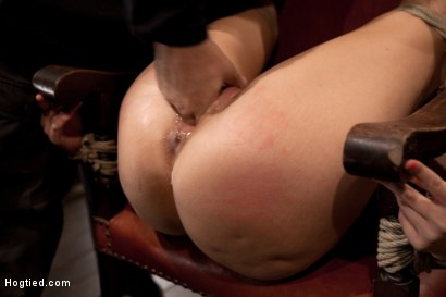 Photo number 6 from Girl next door takes brutal foot caning, devastating orgasms, a horrific throat fucking & anal abuse shot for Hogtied on Kink.com. Featuring Ashli  Orion in hardcore BDSM & Fetish porn.