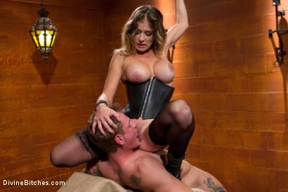 Photo number 7 from Leather Clad Fem Dom: Episode 1 shot for Divine Bitches on Kink.com. Featuring Felony and Trent Diesel in hardcore BDSM & Fetish porn.