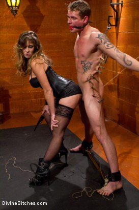 Photo number 11 from Leather Clad Fem Dom: Episode 1 shot for Divine Bitches on Kink.com. Featuring Felony and Trent Diesel in hardcore BDSM & Fetish porn.