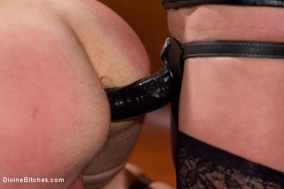 Photo number 5 from Leather Clad Fem Dom: Episode 1 shot for Divine Bitches on Kink.com. Featuring Felony and Trent Diesel in hardcore BDSM & Fetish porn.