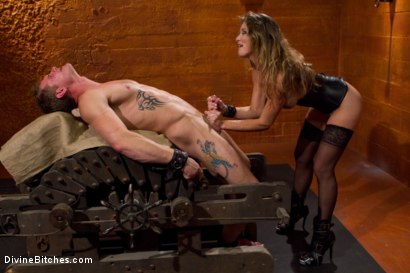 Photo number 9 from Leather Clad Fem Dom: Episode 1 shot for Divine Bitches on Kink.com. Featuring Felony and Trent Diesel in hardcore BDSM & Fetish porn.