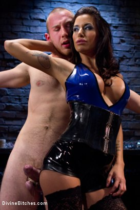 Photo number 3 from 18 year old slaveboy chewed up and spit out by two HOT femdom Bitches! shot for Divine Bitches on Kink.com. Featuring Gia DiMarco, Cody Allen and Felony in hardcore BDSM & Fetish porn.