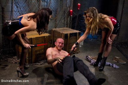 Photo number 2 from 18 year old slaveboy chewed up and spit out by two HOT femdom nymph Bitches! shot for Divine Bitches on Kink.com. Featuring Gia DiMarco, Cody Allen and Felony in hardcore BDSM & Fetish porn.