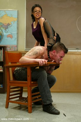 Photo number 13 from Mika Tan and Richie Rennt shot for Men In Pain on Kink.com. Featuring Mika Tan and Richie Rennt in hardcore BDSM & Fetish porn.