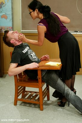 Photo number 8 from Mika Tan and Richie Rennt shot for Men In Pain on Kink.com. Featuring Mika Tan and Richie Rennt in hardcore BDSM & Fetish porn.