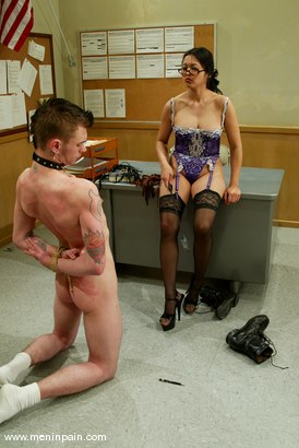 Photo number 11 from Mika Tan and Richie Rennt shot for Men In Pain on Kink.com. Featuring Mika Tan and Richie Rennt in hardcore BDSM & Fetish porn.