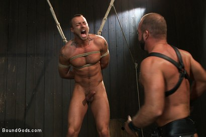 Photo number 4 from Super hunk Jessie Colter meets Josh West shot for Bound Gods on Kink.com. Featuring Jessie Colter and Josh West in hardcore BDSM & Fetish porn.