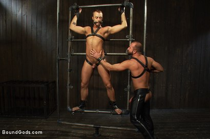 Photo number 8 from Super hunk Jessie Colter meets Josh West shot for Bound Gods on Kink.com. Featuring Jessie Colter and Josh West in hardcore BDSM & Fetish porn.