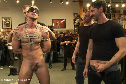 Photo number 2 from Jessie Colter gets gang banged at Mr S Leather store shot for Bound in Public on Kink.com. Featuring Jessie Colter and Christian Wilde in hardcore BDSM & Fetish porn.
