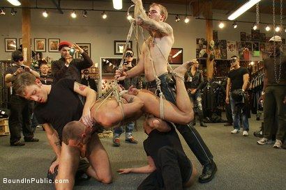 Photo number 7 from Jessie Colter gets gang banged at Mr S Leather store shot for Bound in Public on Kink.com. Featuring Jessie Colter and Christian Wilde in hardcore BDSM & Fetish porn.