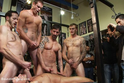Photo number 12 from Jessie Colter gets gang banged at Mr S Leather store shot for Bound in Public on Kink.com. Featuring Jessie Colter and Christian Wilde in hardcore BDSM & Fetish porn.