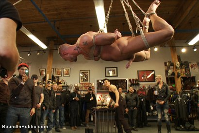 Photo number 3 from Jessie Colter gets gang banged at Mr S Leather store shot for Bound in Public on Kink.com. Featuring Jessie Colter and Christian Wilde in hardcore BDSM & Fetish porn.