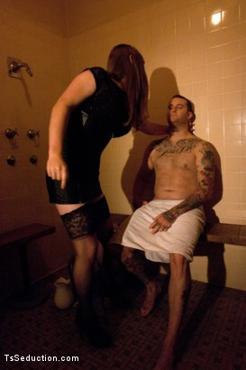 Photo number 2 from The Wrong Man But Any Hole will Do...Introducing Tiffany Star shot for TS Seduction on Kink.com. Featuring Tiffany Starr and Michael Bridalveil in hardcore BDSM & Fetish porn.