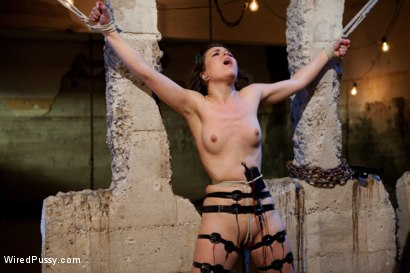 Photo number 6 from Doll-faced, Porcelain skinned Juliette March submits to Bobbi Starr despite her fear of Electricity shot for Wired Pussy on Kink.com. Featuring Bobbi Starr and Juliette March in hardcore BDSM & Fetish porn.