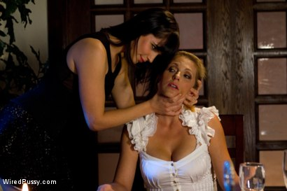 Photo number 15 from Intimate Dinner for Two Turns into a Stimulating Night of Revenge for Hot MILF Roxanne Hall! shot for Wired Pussy on Kink.com. Featuring Bobbi Starr and Roxanne Hall in hardcore BDSM & Fetish porn.