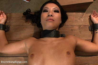 Photo number 8 from America's Sweetheart: Blackmailed and Defiled!!! Starring Asa Akira shot for Bound Gang Bangs on Kink.com. Featuring Asa Akira, Ramon Nomar, Mr. Pete, James Deen, Jon Jon and Rico Strong in hardcore BDSM & Fetish porn.