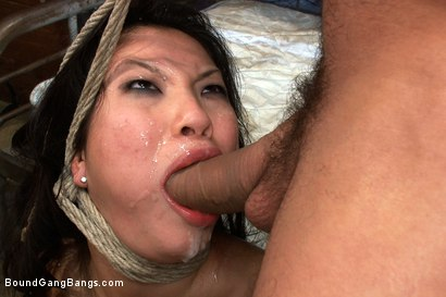 Photo number 12 from America's Sweetheart: Blackmailed and Defiled!!! Starring Asa Akira shot for Bound Gang Bangs on Kink.com. Featuring Asa Akira, Ramon Nomar, Mr. Pete, James Deen, Jon Jon and Rico Strong in hardcore BDSM & Fetish porn.