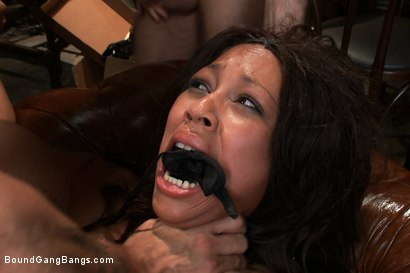 Photo number 13 from The Customer Is Always Right shot for Bound Gang Bangs on Kink.com. Featuring Mr. Pete, Leilani Leeane, James Deen, Jon Jon, Bobby Bends and John Strong in hardcore BDSM & Fetish porn.