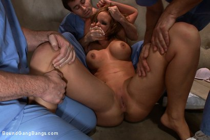 Photo number 2 from Penthouse Pet Phoenix Marie is Taken Down and Fucked Hard in Padded Cell shot for Bound Gang Bangs on Kink.com. Featuring Phoenix Marie, James Deen, Mr. Pete and Mark Davis in hardcore BDSM & Fetish porn.