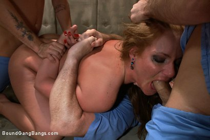 Photo number 3 from Penthouse Pet Phoenix Marie is Taken Down and Fucked Hard in Padded Cell shot for Bound Gang Bangs on Kink.com. Featuring Phoenix Marie, James Deen, Mr. Pete and Mark Davis in hardcore BDSM & Fetish porn.
