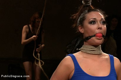 Photo number 2 from ALL GIRL PUBLIC DISGRACE WITH PENTHOUSE PET shot for Public Disgrace on Kink.com. Featuring Melissa Jacobs and Jiz Lee in hardcore BDSM & Fetish porn.