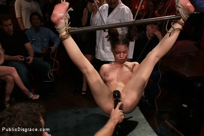 Photo number 8 from Adorable Jessi Palmer is Suspended by Just her Pigtails and Ankles and Fucked  shot for Public Disgrace on Kink.com. Featuring Jessi Palmer and James Deen in hardcore BDSM & Fetish porn.