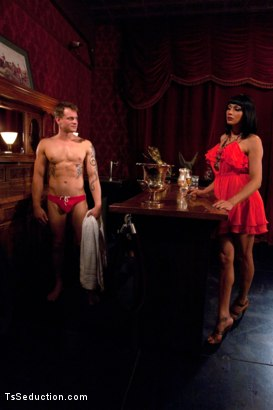 Photo number 1 from Yasmin Lee is Back: Fucking a Hot Stud, Dropping Her Huge Load and Making Him Cum Twice shot for TS Seduction on Kink.com. Featuring Yasmin Lee and Trent Diesel in hardcore BDSM & Fetish porn.