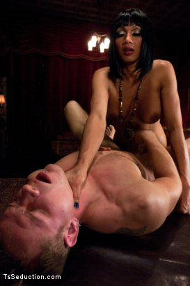 Photo number 13 from Yasmin Lee is Back: Fucking a Hot Stud, Dropping Her Huge Load and Making Him Cum Twice shot for TS Seduction on Kink.com. Featuring Yasmin Lee and Trent Diesel in hardcore BDSM & Fetish porn.