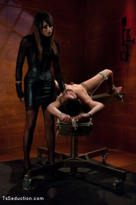 Photo number 2 from Nothing But a Hole to Me : Yasmin Lee Domination shot for TS Seduction on Kink.com. Featuring Yasmin Lee and Mike J in hardcore BDSM & Fetish porn.