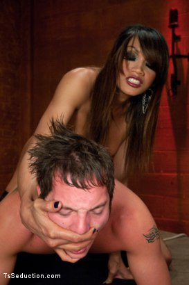 Photo number 8 from Nothing But a Hole to Me : Yasmin Lee Domination shot for TS Seduction on Kink.com. Featuring Yasmin Lee and Mike J in hardcore BDSM & Fetish porn.