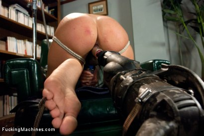 Photo number 2 from FUCKINGMACHINES CLASSIC: Squirting Damsel Machine Fucked in Bondage shot for Fucking Machines on Kink.com. Featuring Melissa Jacobs in hardcore BDSM & Fetish porn.