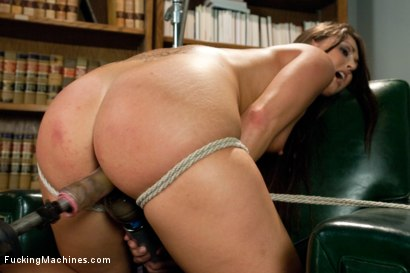 Photo number 3 from FUCKINGMACHINES CLASSIC: Squirting Damsel Machine Fucked in Bondage shot for Fucking Machines on Kink.com. Featuring Melissa Jacobs in hardcore BDSM & Fetish porn.