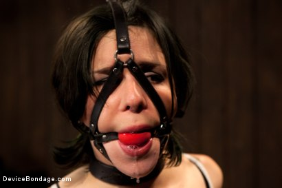 Photo number 1 from Pretty gets punished - double penetration and made to squirt into exhaustion shot for Device Bondage on Kink.com. Featuring Juliette March in hardcore BDSM & Fetish porn.