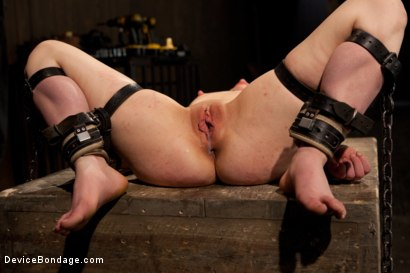 Photo number 13 from Pretty gets punished - double penetration and made to squirt into exhaustion shot for Device Bondage on Kink.com. Featuring Juliette March in hardcore BDSM & Fetish porn.