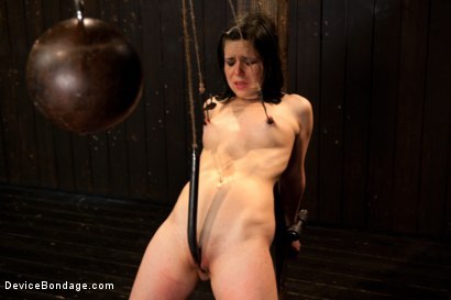 Photo number 9 from Pretty gets punished - double penetration and made to squirt into exhaustion shot for Device Bondage on Kink.com. Featuring Juliette March in hardcore BDSM & Fetish porn.