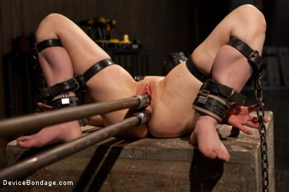 Photo number 12 from Pretty gets punished - double penetration and made to squirt into exhaustion shot for Device Bondage on Kink.com. Featuring Juliette March in hardcore BDSM & Fetish porn.