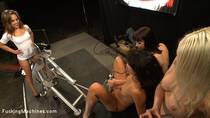 Photo number 7 from Hall of FuckingMachines.com Fame Babes: Fucking Live from the Castle shot for Fucking Machines on Kink.com. Featuring Kristina Rose, Annie Cruz, Bobbi Starr and Lorelei Lee in hardcore BDSM & Fetish porn.