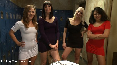 Photo number 1 from Hall of FuckingMachines.com Fame Babes: Fucking Live from the Castle shot for Fucking Machines on Kink.com. Featuring Kristina Rose, Annie Cruz, Bobbi Starr and Lorelei Lee in hardcore BDSM & Fetish porn.