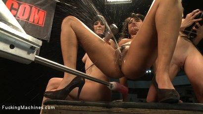 Photo number 8 from Hall of FuckingMachines.com Fame Babes: Fucking Live from the Castle shot for Fucking Machines on Kink.com. Featuring Kristina Rose, Annie Cruz, Bobbi Starr and Lorelei Lee in hardcore BDSM & Fetish porn.