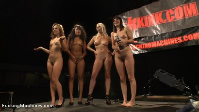 Photo number 1 from Multiple Hands Fisting and Fingering the Same Hole, Machines Pounding: Hall of Fame LIVE Part 2 shot for Fucking Machines on Kink.com. Featuring Kristina Rose, Annie Cruz, Bobbi Starr and Lorelei Lee in hardcore BDSM & Fetish porn.