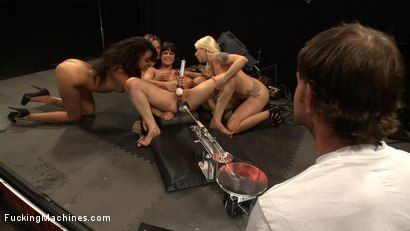 Photo number 2 from Multiple Hands Fisting and Fingering the Same Hole, Machines Pounding: Hall of Fame LIVE Part 2 shot for Fucking Machines on Kink.com. Featuring Kristina Rose, Annie Cruz, Bobbi Starr and Lorelei Lee in hardcore BDSM & Fetish porn.