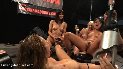 Photo number 14 from Multiple Hands Fisting and Fingering the Same Hole, Machines Pounding: Hall of Fame LIVE Part 2 shot for Fucking Machines on Kink.com. Featuring Kristina Rose, Annie Cruz, Bobbi Starr and Lorelei Lee in hardcore BDSM & Fetish porn.