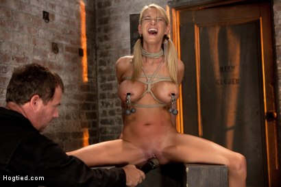 Photo number 6 from Impaled with a huge dildo w/vibrator stuck right on her clit. Breath control makes this girl cum! shot for Hogtied on Kink.com. Featuring Blake Rose in hardcore BDSM & Fetish porn.