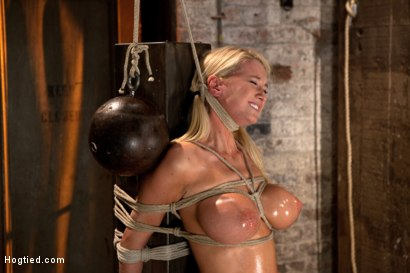Photo number 12 from Impaled with a huge dildo w/vibrator stuck right on her clit. Breath control makes this girl cum! shot for Hogtied on Kink.com. Featuring Blake Rose in hardcore BDSM & Fetish porn.