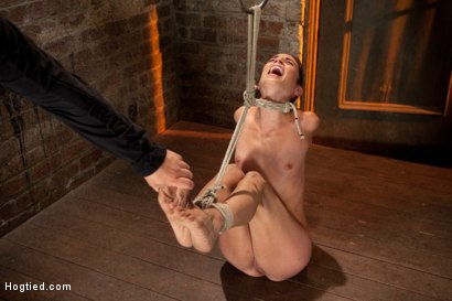 Photo number 12 from Sexy Amber has her elbows bound together, ankles to neck, and endures foot caning, brutal orgasms. shot for Hogtied on Kink.com. Featuring Isis Love and Amber Rayne in hardcore BDSM & Fetish porn.